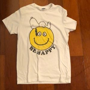 Old Navy Be Happy Snoopy Tee
